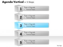 Five Staged Business Agenda Step Diagram 0214