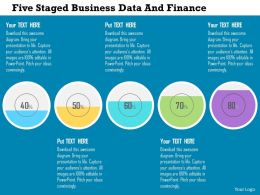 Five Staged Business Data And Finance Flat Powerpoint Design
