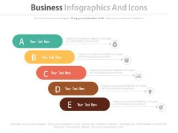 Five Staged Business Infographics And Icons Flat Powerpoint Design