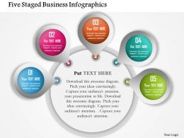 Five Staged Business Infographics Powerpoint Template