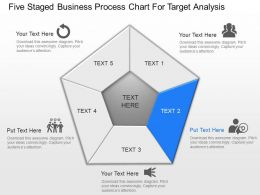 Five Staged Business Process Chart For Target Analysis Powerpoint Template Slide