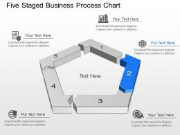 Five Staged Business Process Chart Powerpoint Template Slide