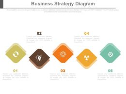 five_staged_business_strategy_diagram_flat_powerpoint_design_Slide01