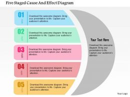 Five Staged Cause And Effect Diagram Flat Powerpoint Design