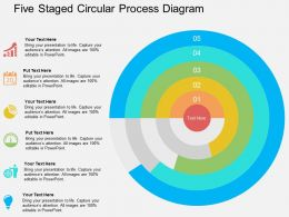 Five Staged Circular Process Diagram Flat Powerpoint Design