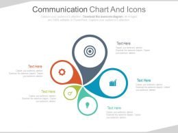 Five Staged Communication Chart And Icons Powerpoint Slides