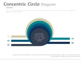 Five Staged Concentric Circle Diagram Flat Powerpoint Design