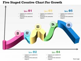 Five Staged Creative Chart For Growth Powerpoint Template