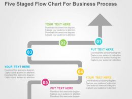 five_staged_flow_chart_for_business_process_flat_powerpoint_design_slide01 - Flowchart For Business Process