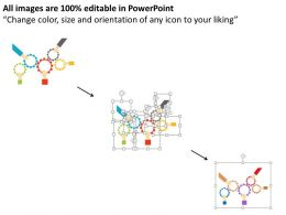 Five Staged Gear Process For Process Control Flat Powerpoint Design