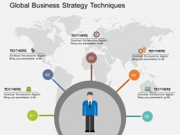Five Staged Global Business Strategy Techniques Ppt Presentation Slides