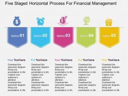 Five Staged Horizontal Process For Financial Management Flat Powerpoint Design