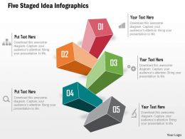 Five Staged Idea Infographics Powerpoint Template