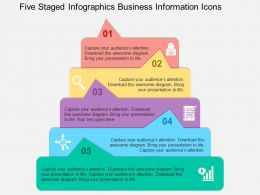 Five Staged Infographics Business Information Icons Flat Powerpoint Design
