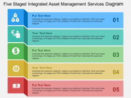 Five Staged Integrated Asset Management Services Diagram Flat Powerpoint Design