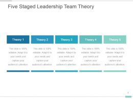 Five Staged Leadership Team Theory Ppt Visual Diagram