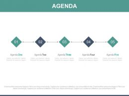 Five Staged Linear Chart For Business Agenda Powerpoint Slides