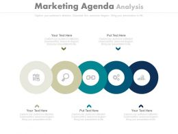 Five Staged Marketing Agenda Analysis Diagram Powerpoint Slides