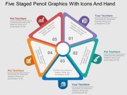 five_staged_pentagon_design_with_icons_flat_powerpoint_design_Slide01
