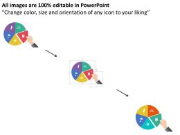 five_staged_pie_chart_with_process_icons_flat_powerpoint_design_Slide02