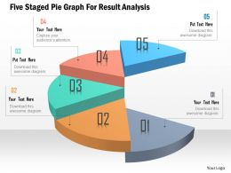 Five Staged Pie Graph For Resul Analysis Powerpoint Template