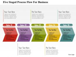 Five Staged Process Flow For Business Flat Powerpoint Design