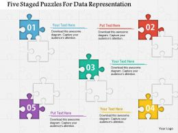 Five Staged Puzzles For Data Representation Powerpoint Template