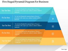 Five Staged Pyramid Diagram For Business Flat Powerpoint Design