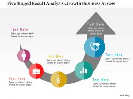 Five Staged Result Analysis Growth Business Arrow Flat Powerpoint Design