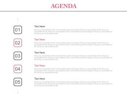 Five Staged Sales Agenda For Growth Powerpoint Slides