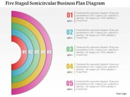 Five Staged Semicircular Business Paln Diagram Powerpoint Template