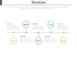 Five Staged Sequential Timeline For Business Achievement Powerpoint Slides