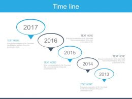 Five Staged Sequential Timeline For Business Powerpoint Slides