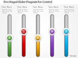 Five Staged Slider Diagram For Control Powerpoint Template