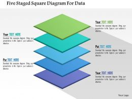 Five Staged Square Diagram For Data Flat Powerpoint Design