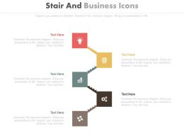 Five Staged Stair And Business Icons Diagram Powerpoint Slides