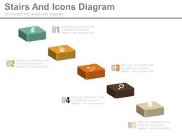Five Staged Stair And Icons Diagram Powerpoint Slides