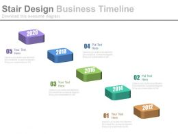 Five Staged Stair Design Business Timeline Powerpoint Slides
