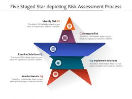 Five Staged Star Depicting Risk Assessment Process