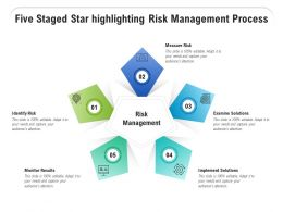Five Staged Star Highlighting Risk Management Process