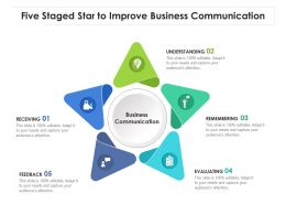 Five Staged Star To Improve Business Communication