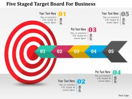 Five Staged Target Board For Business Flat Powerpoint Design