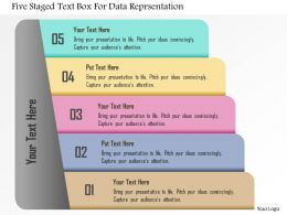 Five Staged Text Box For Data Reprsentation Powerpoint Template