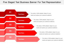 Five Staged Text Business Banner For Text Representation
