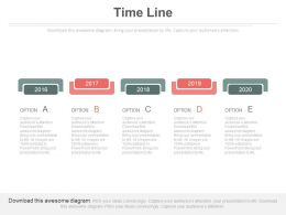 Five Staged Timeline For Year Based Result Analysis Powerpoint Slides