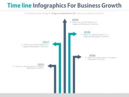 Five Staged Timeline Infographics For Business Growth Powerpoint Slides