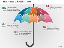 Five Staged Umbrella Chart Powerpoint Template