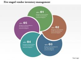 Five Staged Vendor Inventory Management Flat Powerpoint Design