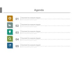 Five Staged Vertical Chart For Sales Agenda Powerpoint Slides