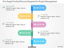 Five Staged Vertical Process Diagram For Project Management Flat Powerpoint Design